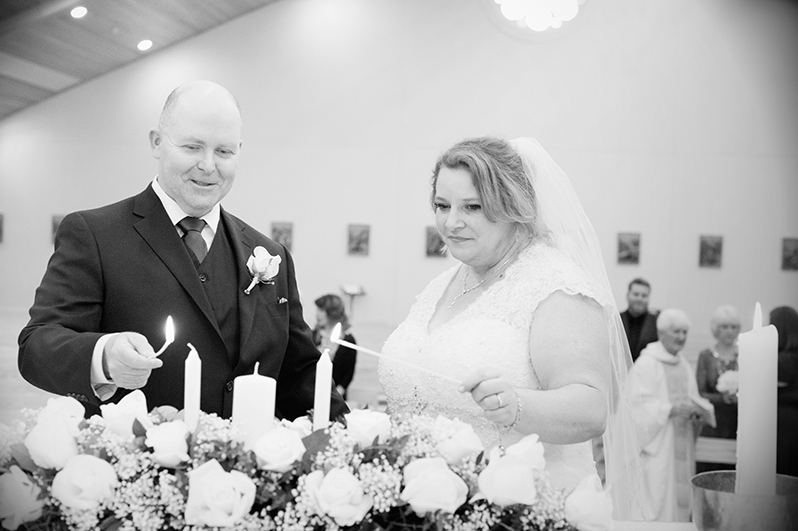 Wedding photograph at Saint Anne's Church Portmarnock