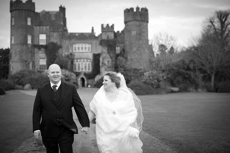 Wedding photography at Malahide Castle
