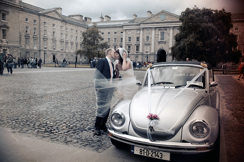 Wedding photography at Trinity College Chapel Dublin