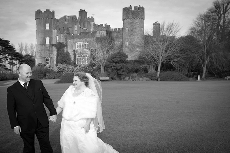 Wedding photography in the grounds of Malahide Castle