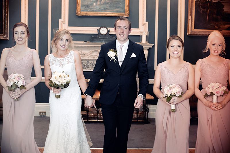 Wedding photograph at The Hibernian Club on St.Stephen's Green