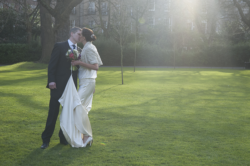 Wedding photograph in St. Stephen's Green