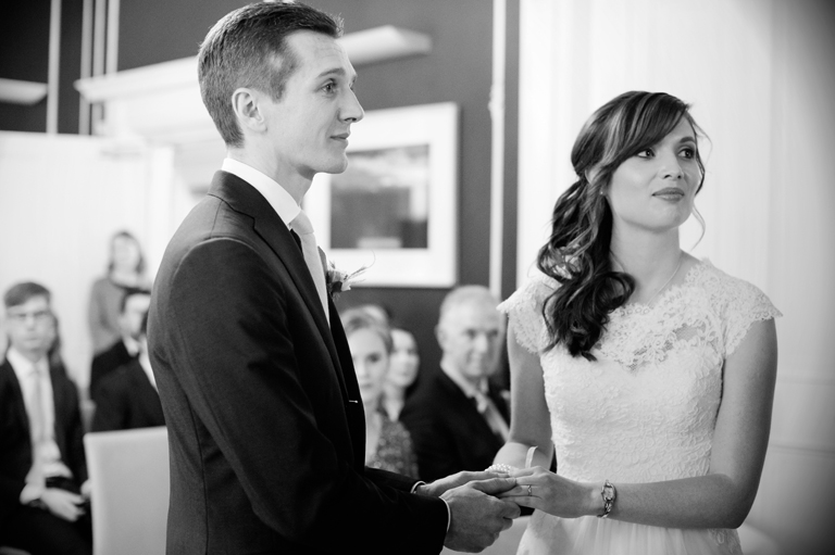 Civil Wedding Ceremony Photograph at No. 25 Fitzwilliam Place