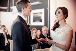 Civil Wedding Ceremony Photography at No. 25 Fitzwilliam Place Wedding