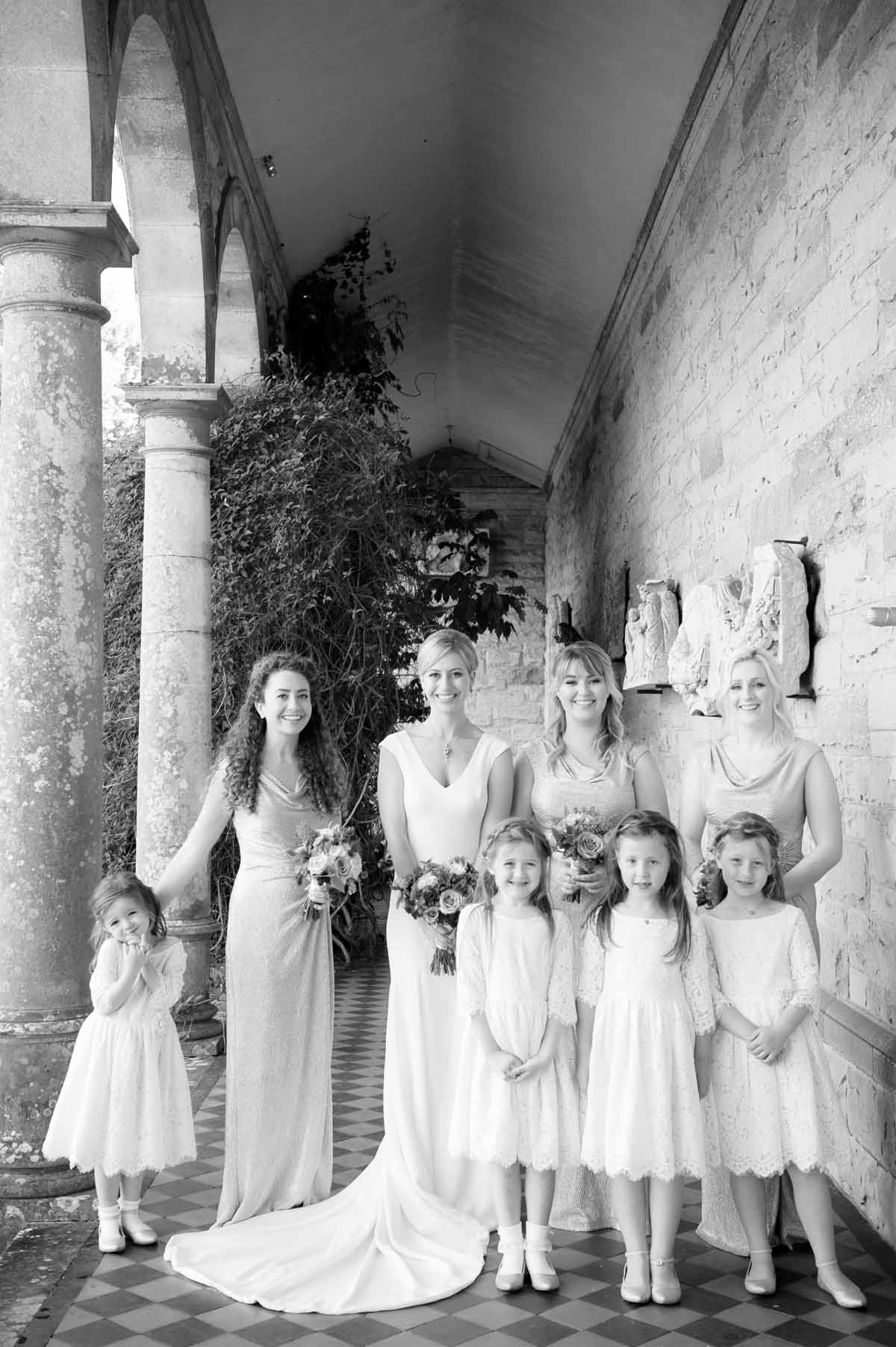 Wedding Photo of the bridal party in Castle Leslie