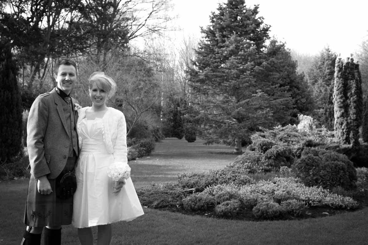 Dublin City Wedding Photo in Merrion Square Park