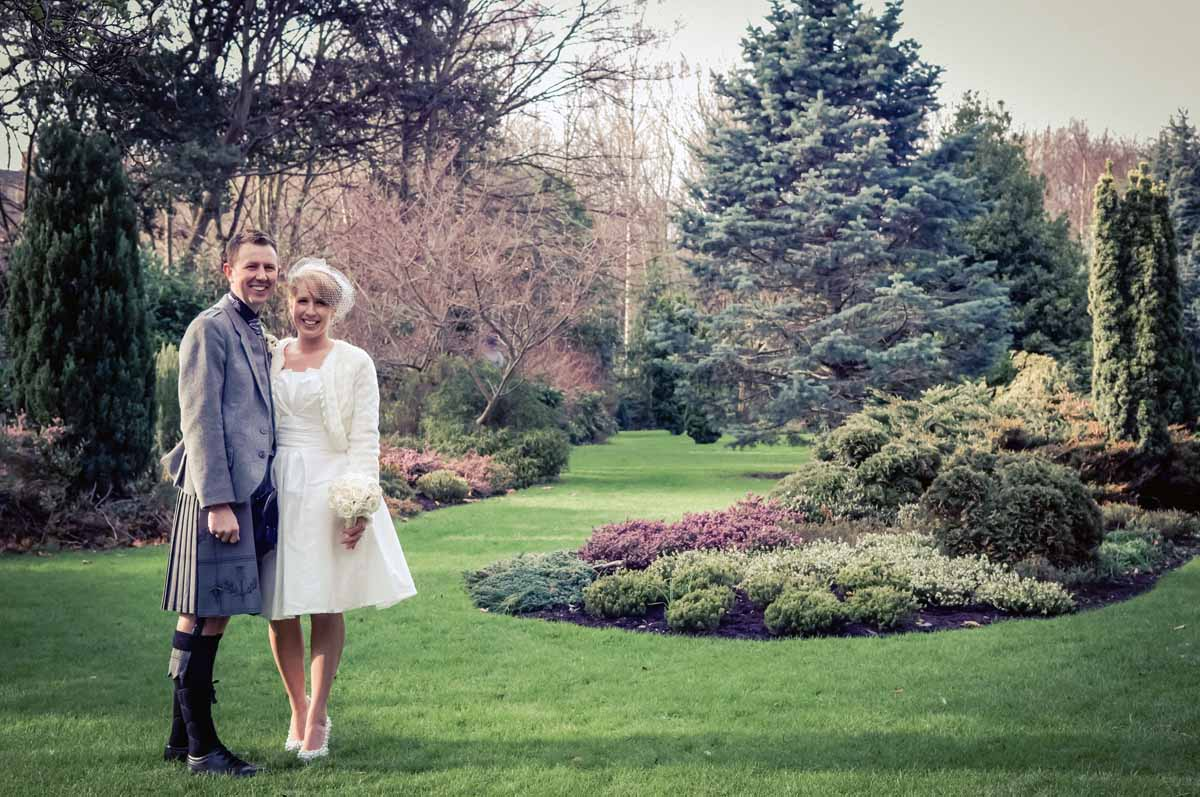 Dublin City Wedding Photograph in Merrion Square Park