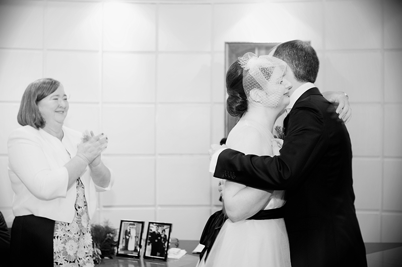 Dublin Registry Office Wedding Ceremony Photograph