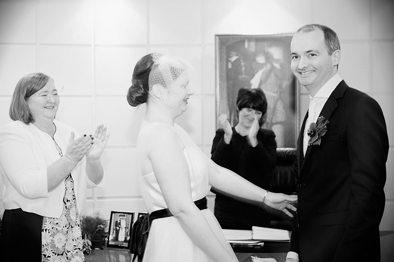 Dublin Registry Office Wedding Ceremony Photography