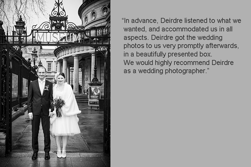 Registry Office Wedding Photo in Dublin