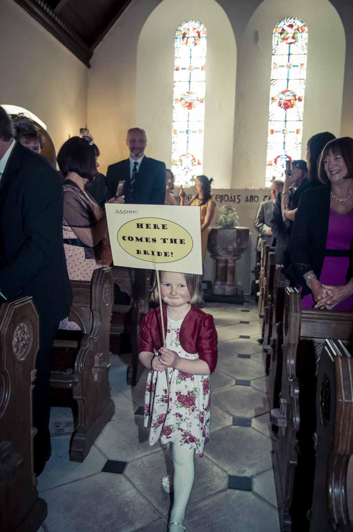 Irish Country Church Wedding Photo
