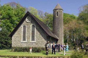 Country Church Wedding Photograph