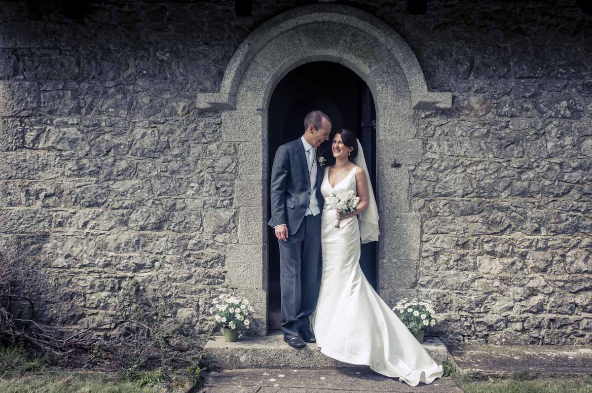 Country Church Wedding Photo In Ireland