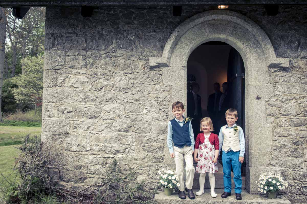 Irish Country Church Wedding Photograph