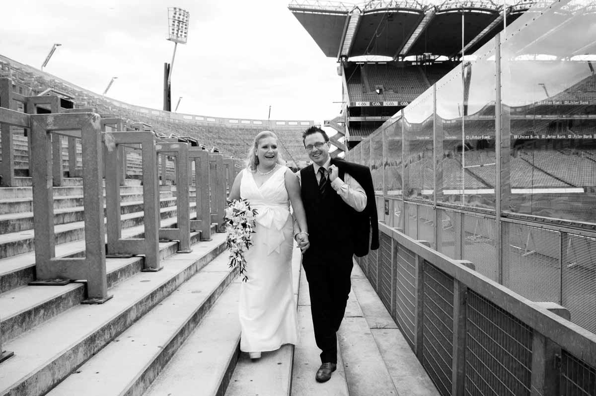 Croke Park Wedding Photo at Hill 16