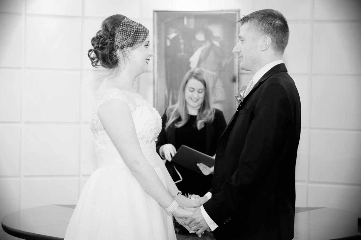 Registry Office Wedding Ceremony Photograph