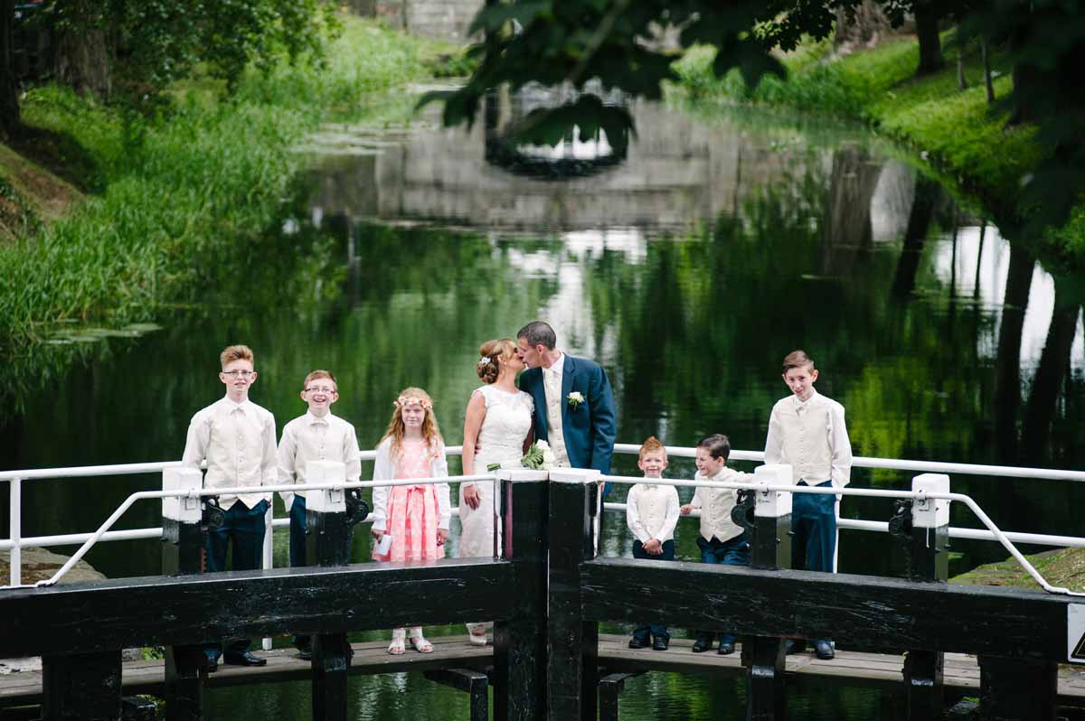 Registry Office Wedding Photography on the Grand Canal in Dublin