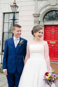 Registry Office Wedding Picture in Dublin City centre