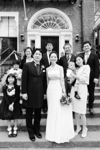 Cliff Town House Wedding Photograph