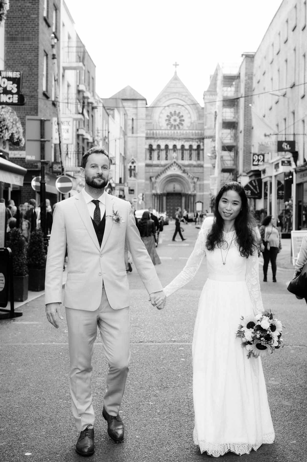 Dublin City Centre Wedding Photograph