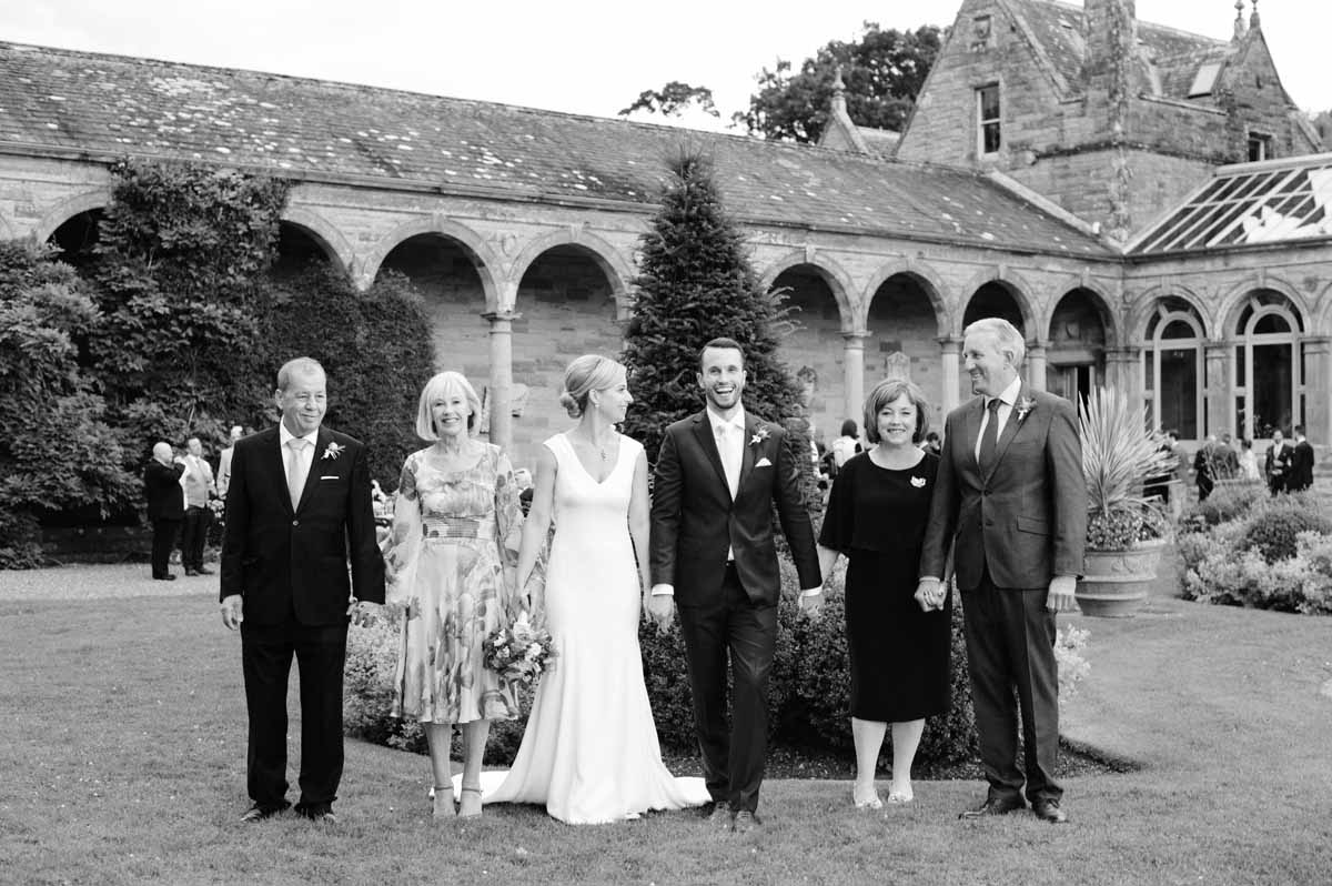 A Wedding Photograph in the grounds of Castle Leslie
