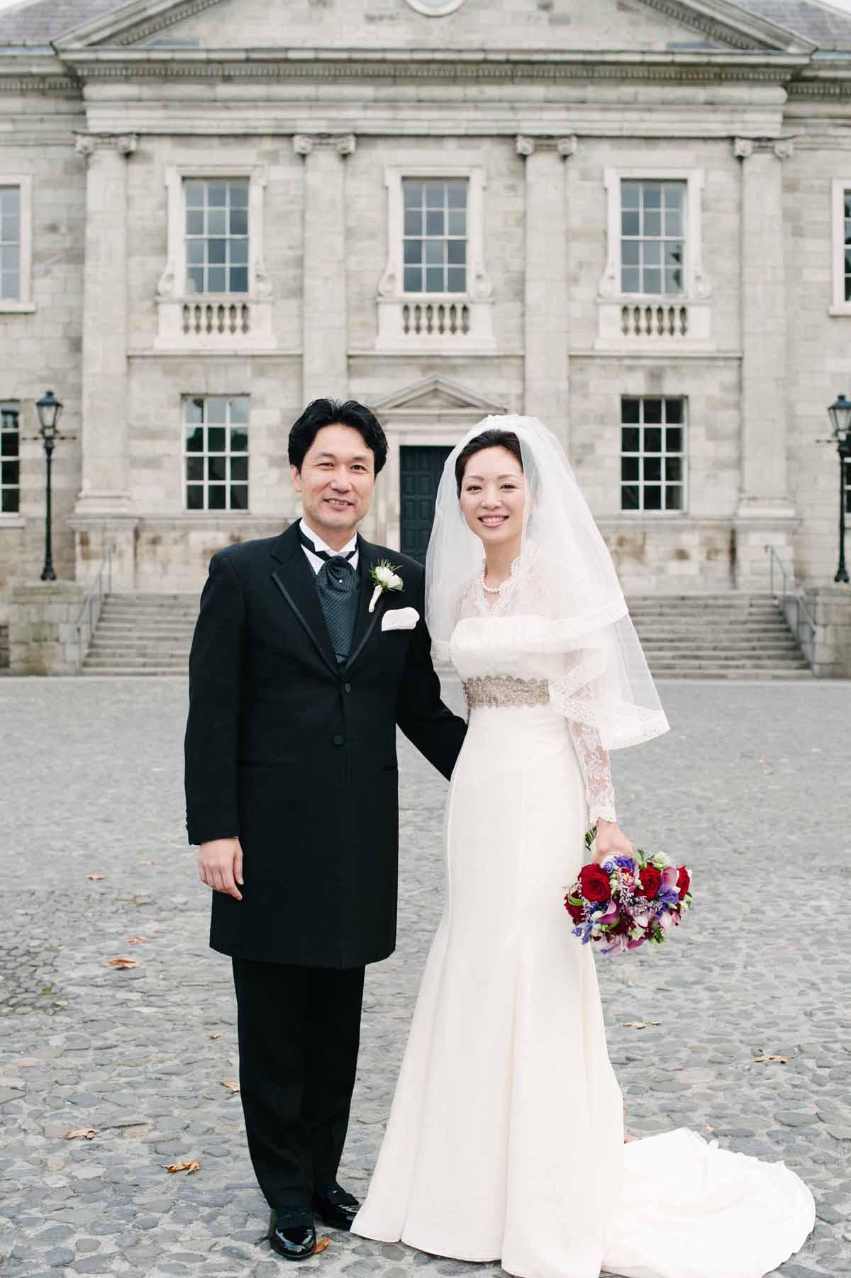 Trinity College Dublin Wedding Photo