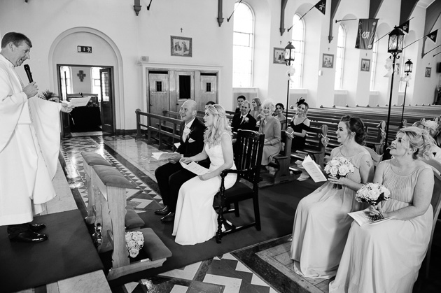 wedding ceremony in the McKee Barracks Chapel
