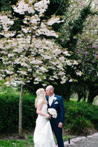 Wedding photo in St.Stephen's Green in Dublin