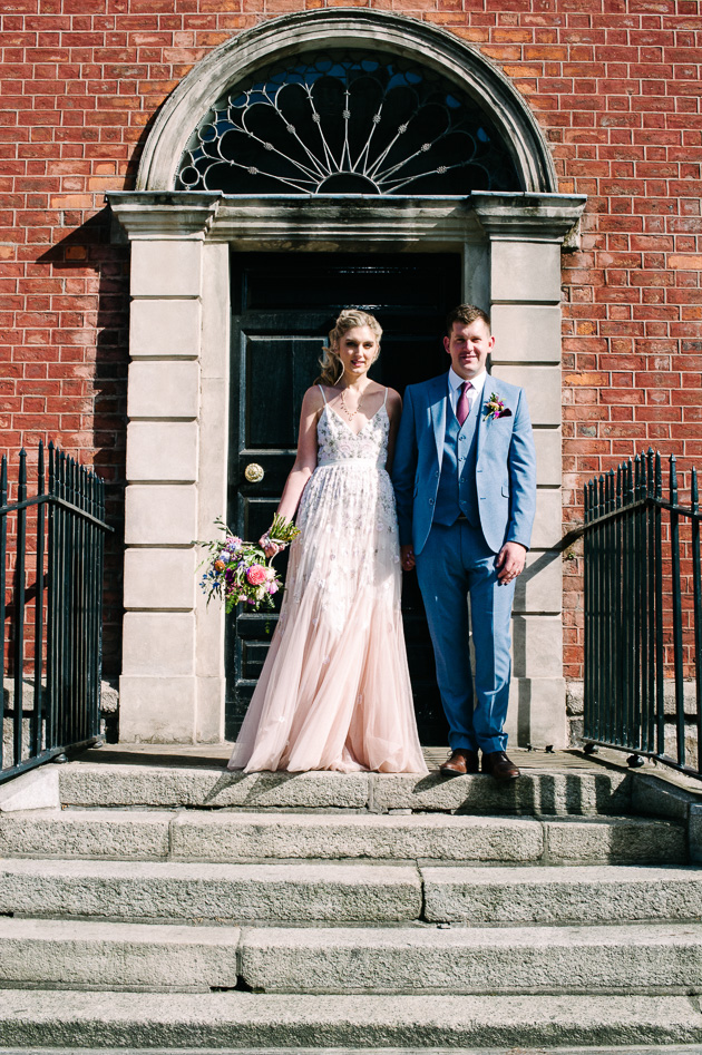 Wedding photograph in Dublin City Centre