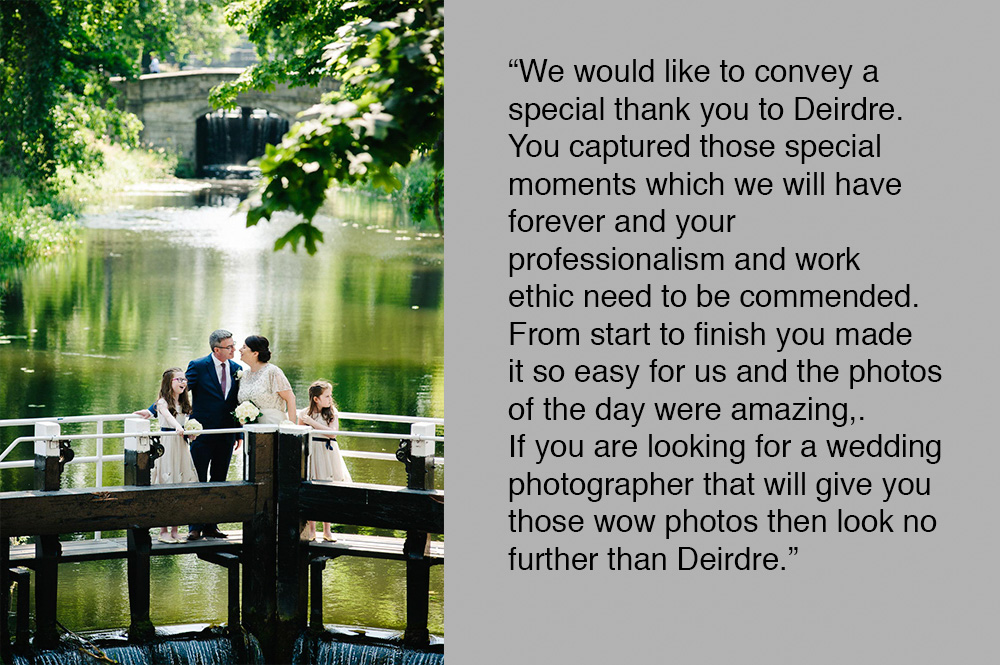 Registry Office Wedding Photography on the locks of the Grand Canal in Dublin