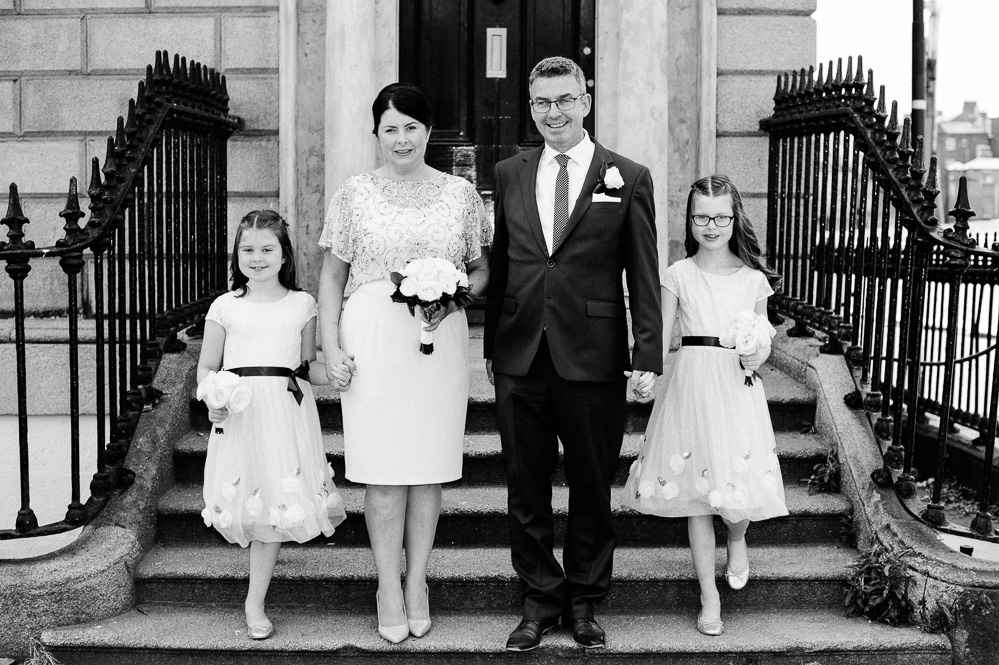 Wedding photography in Georgian Dublin