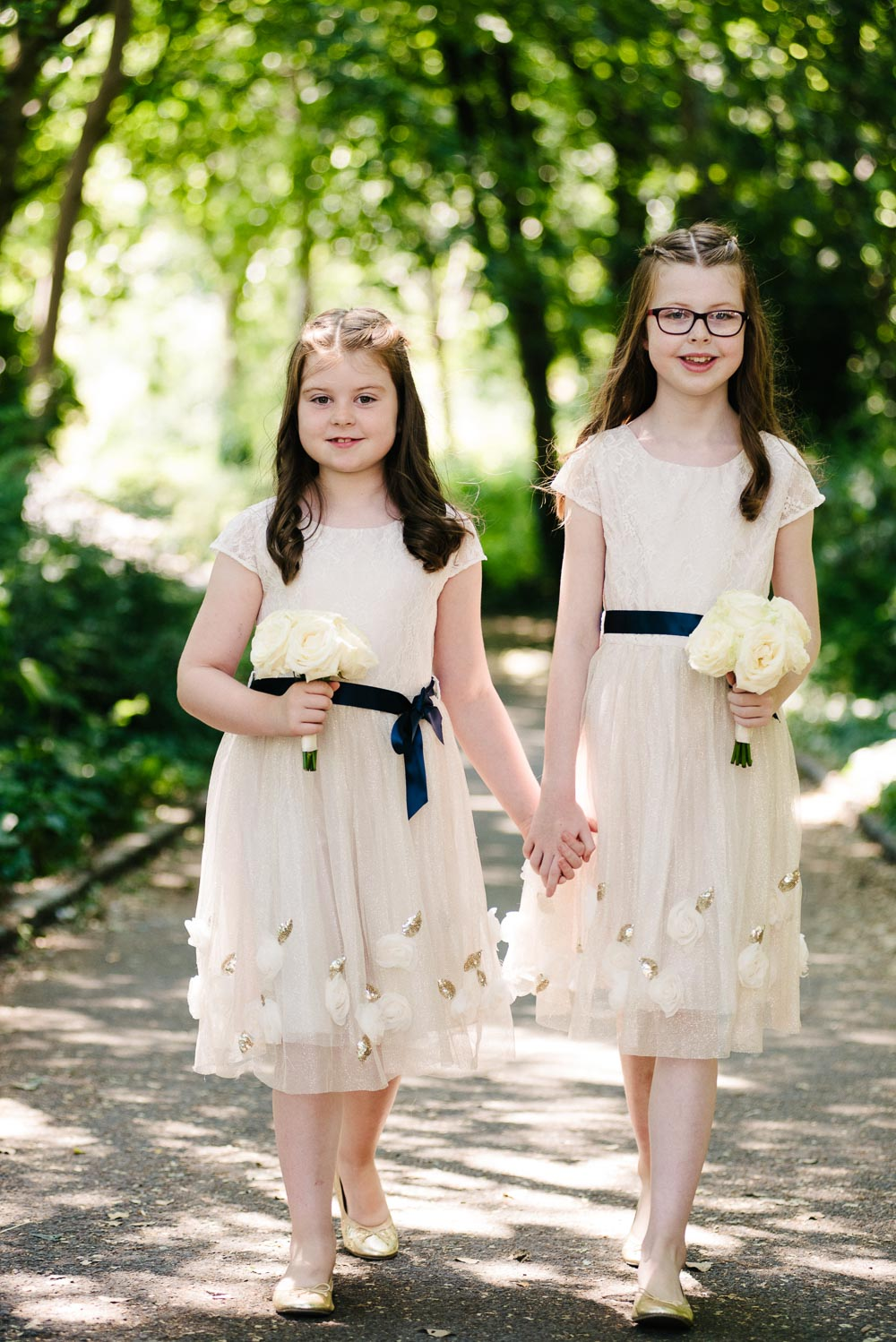 Portrait of the flower girls in Merrion Square Park in Dublin.