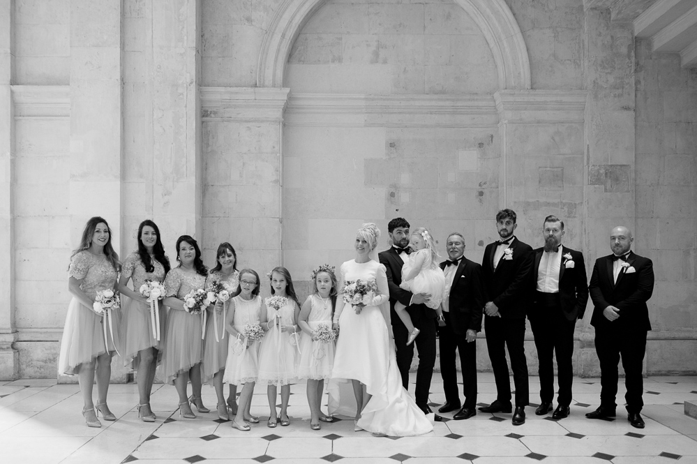 Dublin City Hall Bridal Photograph