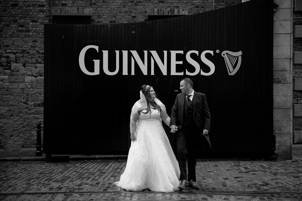 A Guinness Storehouse Wedding Photograph at The Guinness Gates