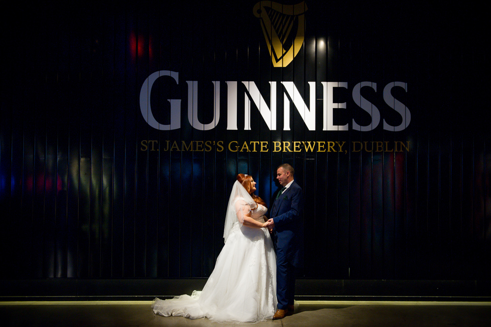 Wedding photography in The Guinness Storehouse