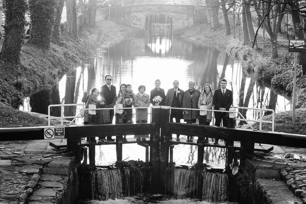 Dublin City Wedding Photograph at The Grand Canal in Dublin