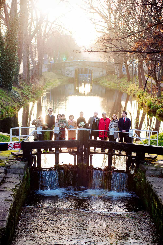 Dublin Wedding Photograph by The Grand Canal in Dublin