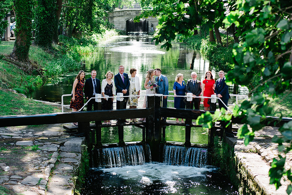 Dublin-Registry-Office-Wedding-Photo on the lock crossing the Grand Canal in Dublin