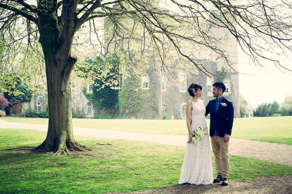Malahide Castle Wedding Portrait