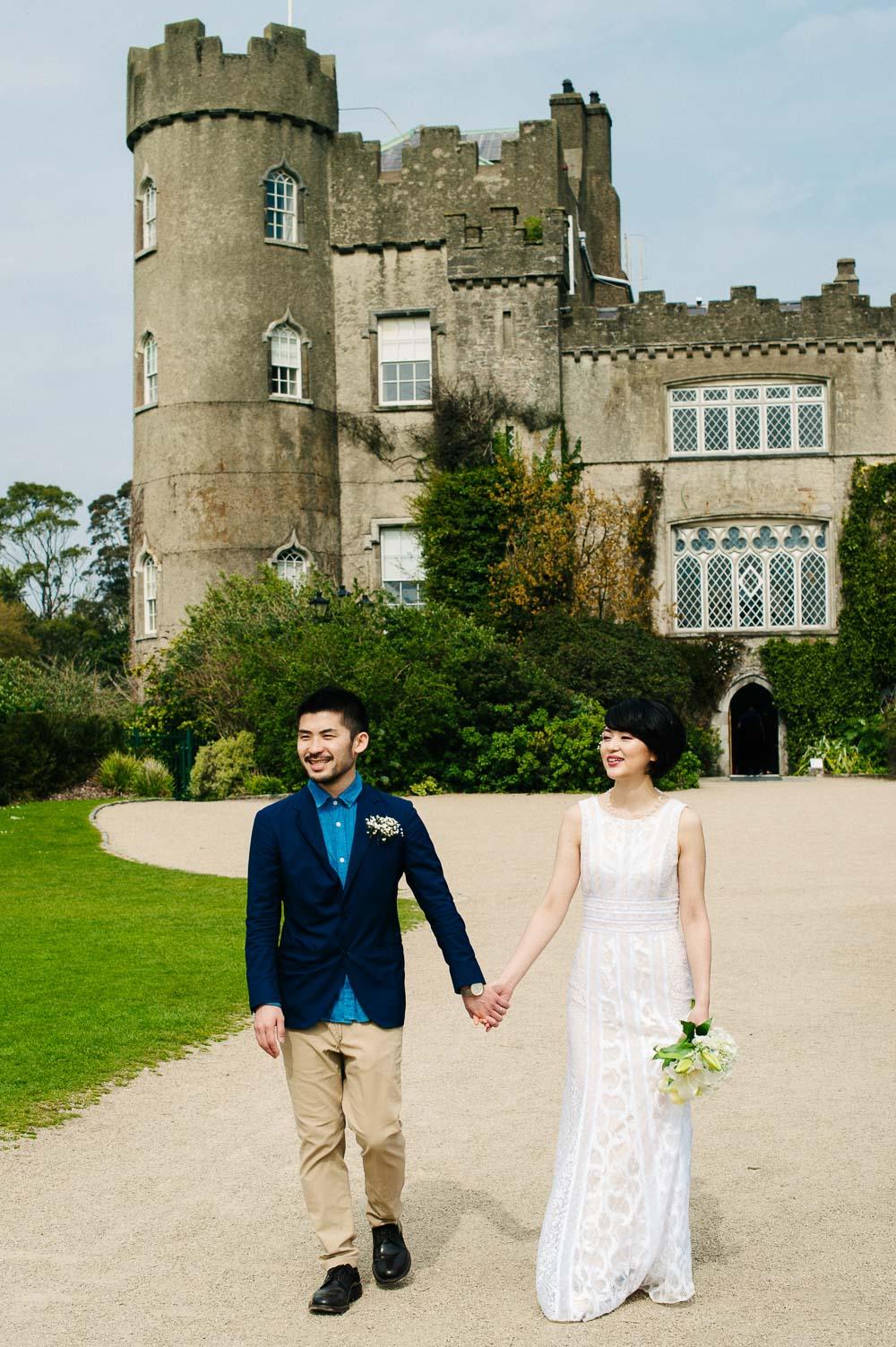 A Malahide Castle Wedding Photograph