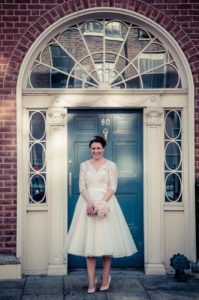 Dublin Registry Office Bridal Portrait in Georgian Dublin
