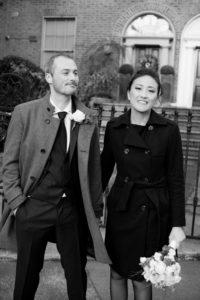 Dublin Registry Office Wedding Picture on Mount Street in Dublin