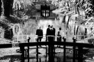 Dublin Same Sex Wedding Photograph at The Grand Canal in Dublin