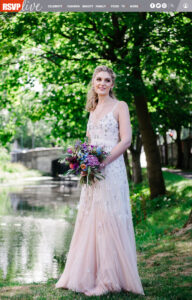 RSVP magazine Bride of the Week featured photograph