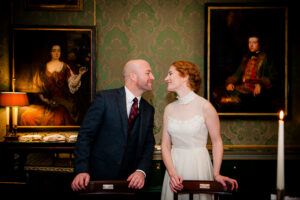 Christmas Wedding Picture at The Shelbourne Hotel Dublin
