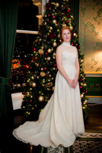 Christmas Wedding Photo at The Shelbourne Hotel in Dublin
