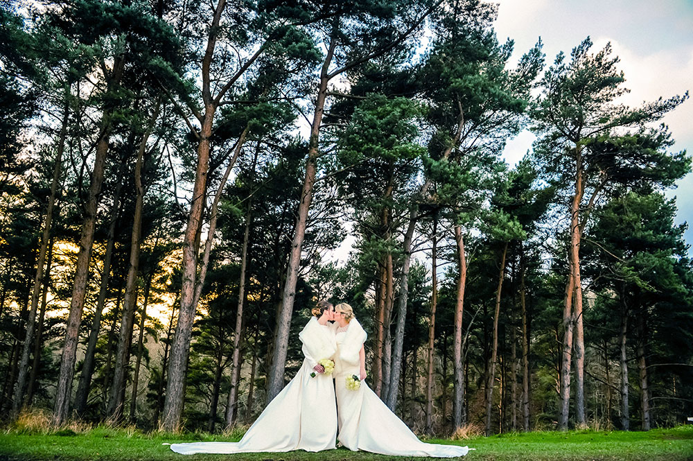 LGBT Wedding Photographer photographs two brides in the Phoenix Park in Dublin.