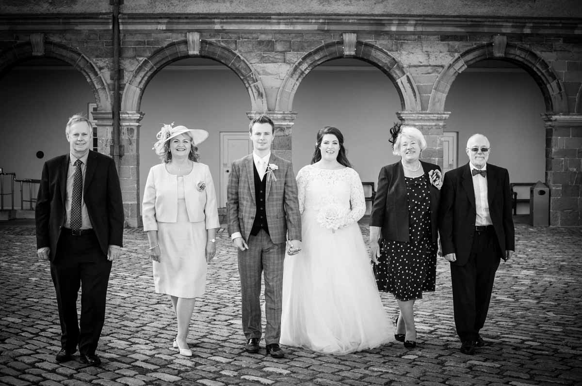 Micro Wedding Family Portrait in The Grounds of The Royal Hospital Kilmainham