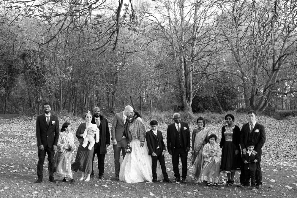 Family Wedding Photograph in The Phoenix Park in Dublin