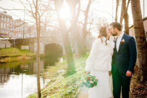 Dublin City Wedding Photography on the banks of the Grand Canal